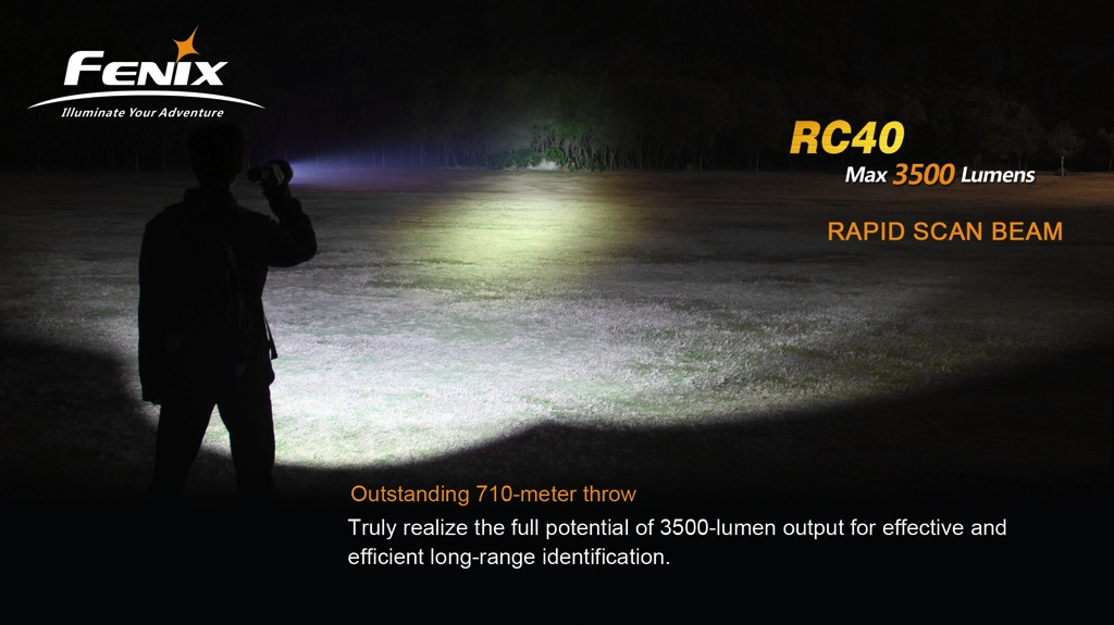 Fenix Digital RC40 Rechargeable LED Flashlight